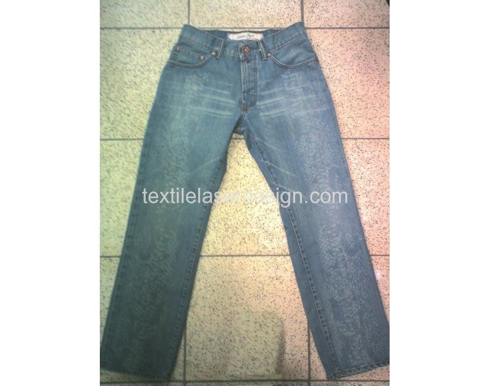 Textile jeans laser design